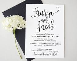wedding invitations with pictures wedding invitation kits etsy