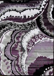 new abstract purple gray rug black modern carpet contemporary area