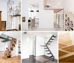 Narrow Stairs Design Steps To Saving Space 15 Compact Stair Designs For Lofts Urbanist