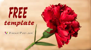 carnation flowers how to make carnation paper flower free template easy