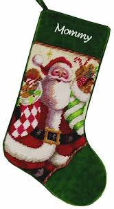 santa with needlepoint personalized heirloom