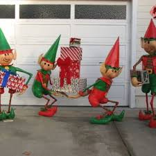 santa s elves yard display yard decorations yards and