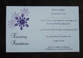 wedding invitations evening invitation personalised snowflake