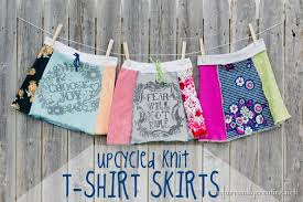 Upcycle Old Tshirts - easy upcycled t shirt skirt infarrantly creative