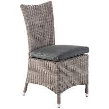 chaises tress es en résine tressée manille grège