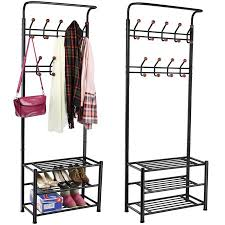 yaheetech metal multi purpose clothes coat stand shoes rack