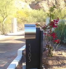 contemporary stainless steel mailbox with led address plaque www