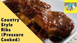 pressure cooked country style ribs youtube