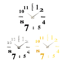 diy large watch wall clock modern design creative stickers mirror