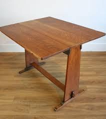 Drop Leaf Oak Table An Arts Crafts Oak Drop Leaf Table Antiques Atlas