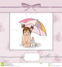 baby shower card with funny stock image image 24189761