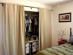 Diy Closet Door Ideas Diy Closet Door Curtains Home Design Ideas