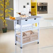 folding kitchen cart ebay
