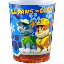 Bedroom Wastebasket Nickelodeon Paw Patrol Rescue Crew Wastebasket Walmart Com