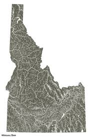 Highly Detailed River Map Of by Oc Highly Detailed Idaho River Map 3600x5400 Mapporn