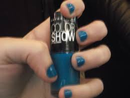 maybelline color show nail polish in superpower blue benitas