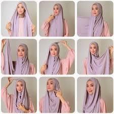 tutorial pashmina dian pelangi cara memakai hijab pashmina dian pelangi