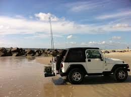 beach jeep surf jeep wrangler fishing rod rack google search fishing rods