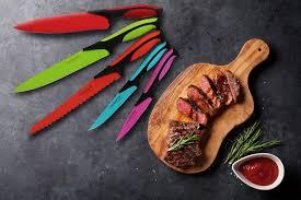 amazon com kitchen knife block set with colour coding 5 piece