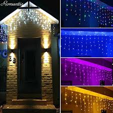White Icicle Lights Outdoor Led 5 0 4m 0 6m 0 8m White Icicle Lights Curtain Light