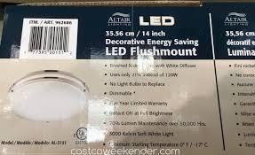 altair 14 led flushmount light altair 14 inch led flushmount light fixture model al 3151 costco