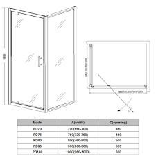 bifold pivot walk in wet room sliding shower door enclosure hinge