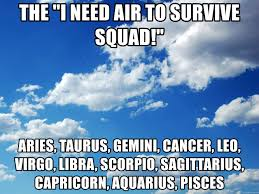 Gemini Meme - the i need air to survive squad aries taurus gemini cancer