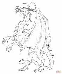 the hungarian horntail dragon coloring page free printable