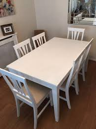 shabby chic dining table chairs second hand household furniture