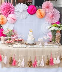 Pink And Gold Dessert Table by Baby Shower Foxy Baby Foxy Mama Themed Baby Showers Gold