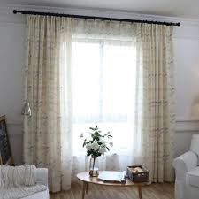 Yellow Bedroom Curtains Simple Modern Yellow Leaves Printed Polyester Bedroom Curtains