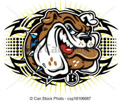 tribal bulldog design vector search clip art illustration