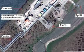 Alaska Pipeline Map by Did Google Maps Capture A Hidden Oil Spill In The Alaskan