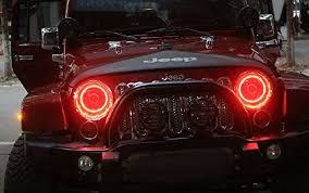 halo rings red images Ijdmtoy led halo rings for jeep wrangler jpg