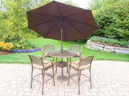 4 Foot Patio Umbrella by Bar U0026 Counter Height Set
