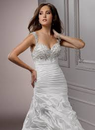 Wedding Dresses With Straps Fit And Flare Wedding Dress With Bling And Straps Naf Dresses
