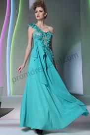 prom dresses online 2014 blue one shoulder flowers lace tilt