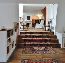 Stairway Rug Runners Mix U0026 Matched Patterns Diy Stair Runner Made With Vintage Rugs
