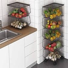 vegetable storage kitchen cabinets 35 cm vegetable fruit storage kitchen stack basket rack shop