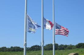 Flags At Half Mass Today Rick Fredericksen Iowa Public Radio