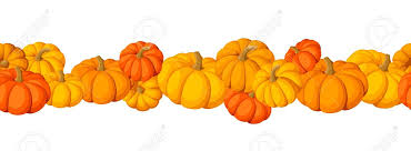 horizontal seamless background with pumpkins royalty free