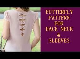 butterfly pattern for back neck sleeves blouse designs