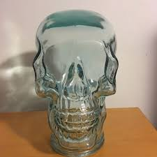 skull glass head nw green recycled hand made in spain mannequin