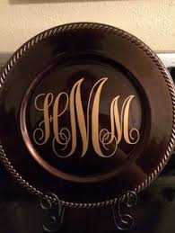 monogrammed plate monogrammed plates 17 50 sewing tips personalised