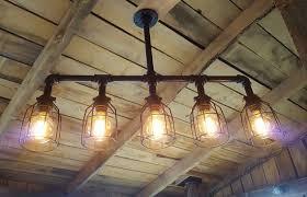 Industrial Lighting Chandelier Rustic Industrial Lighting Chandelier Edison Bulb Iron Pipe