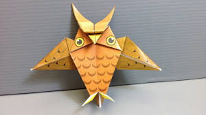 origami halloween owl print your own paper youtube