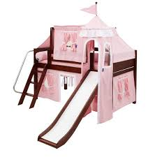 maxtrixkids wow cp low loft bed with angled ladder and slide