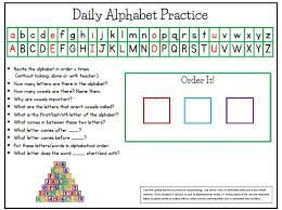 daily alphabet practice tj homeschooling