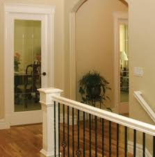 Wooden Stair Banisters Handrails And Stairs Finished With Satin Varnish