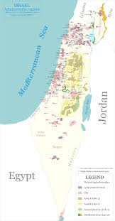 Map Israel File Map Of Administrative Regions In Israel Png Wikimedia Commons